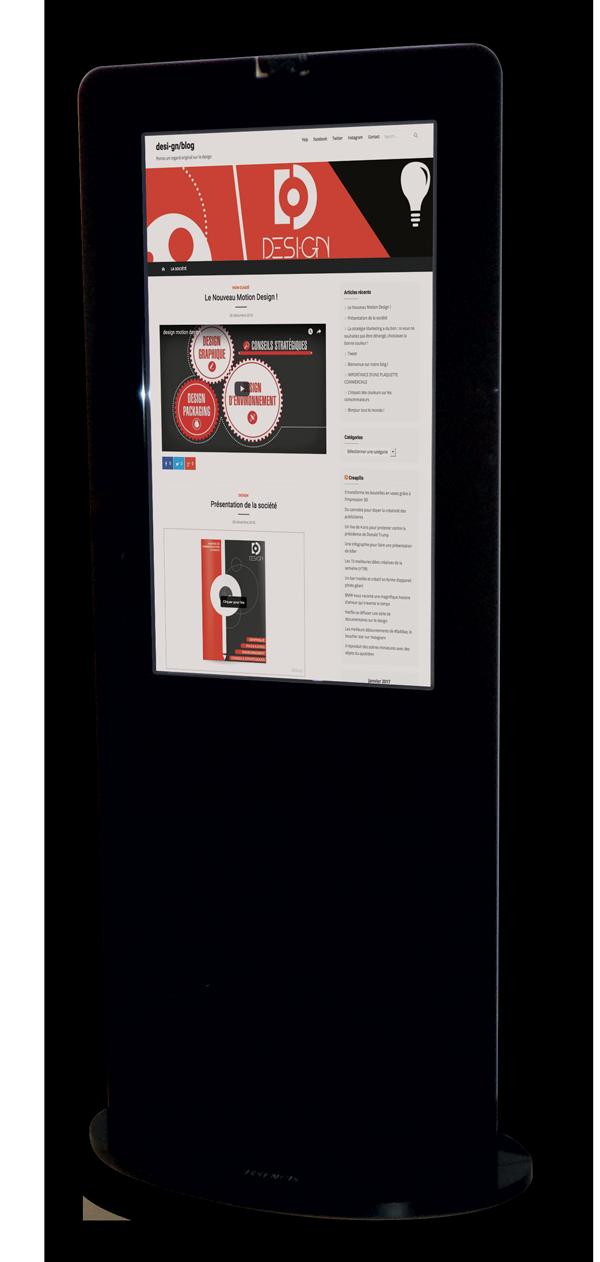 borne interactive Tact-yl Desi-gn