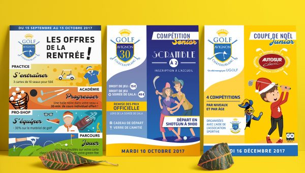 Ugolf Avignon Chateaublanc Affiches agence Desi-gn
