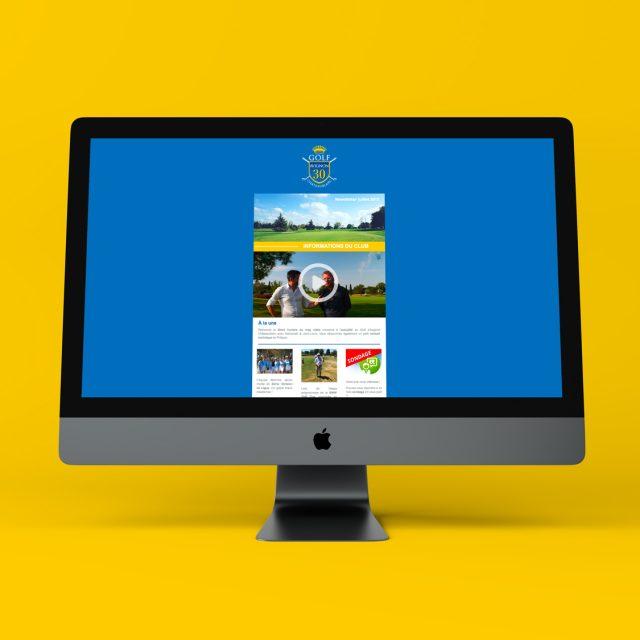 Golf Avignon Chateaublanc newsletter agence Desi-gn