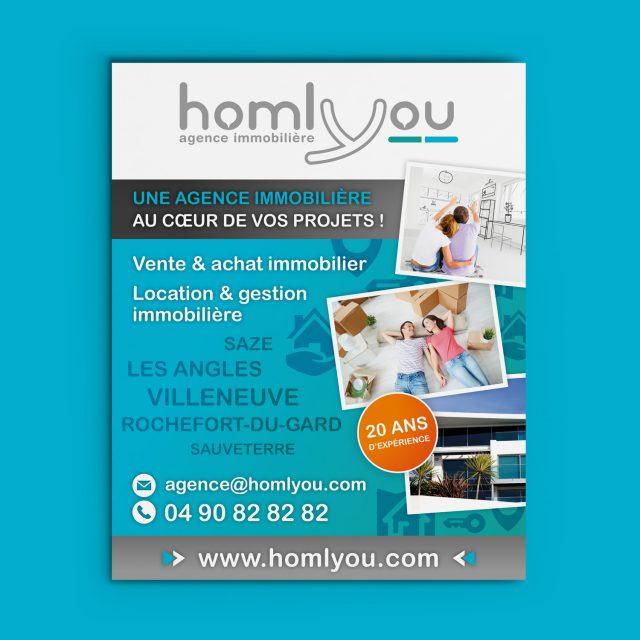 Homlyou affiche agence Desi-gn