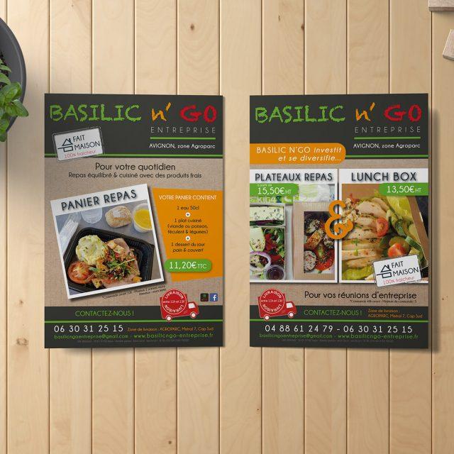 Basilic N'Go Flyer Entreprise Agence Desi-gn