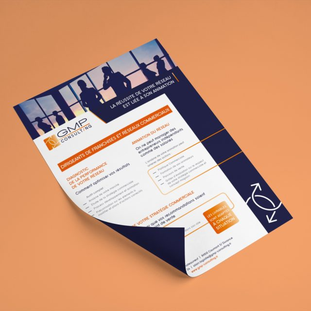 Fiche Commerciale GMP Consulting Agence de Communication Desi-gn