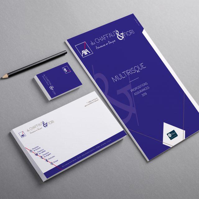 Papeterie_Logo_Axa dC&F_Agence Desi-gn